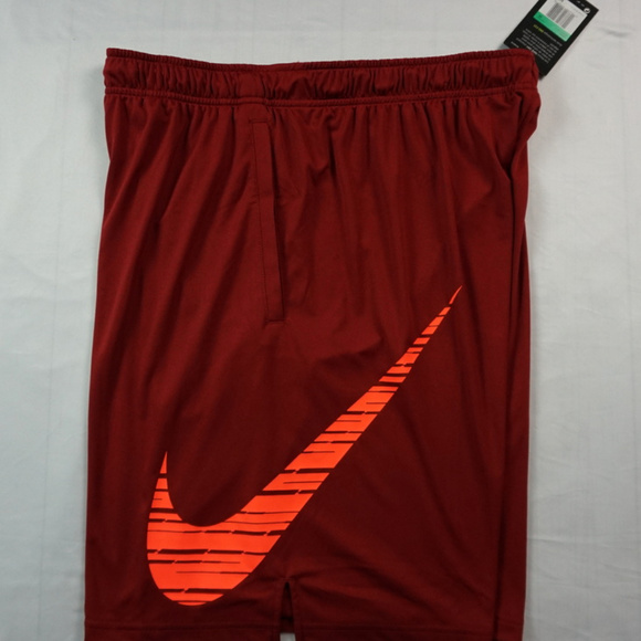 be42eb983f2e Nike Dri Fit Maroon   Red Gym Shorts Large Swoosh